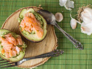 Gevulde avocado met Zalm