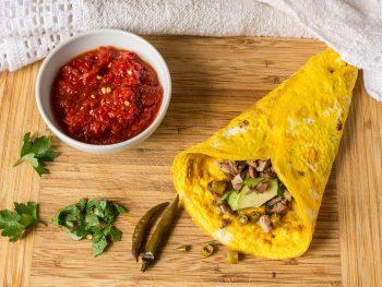 Keto Burrito Met Kip